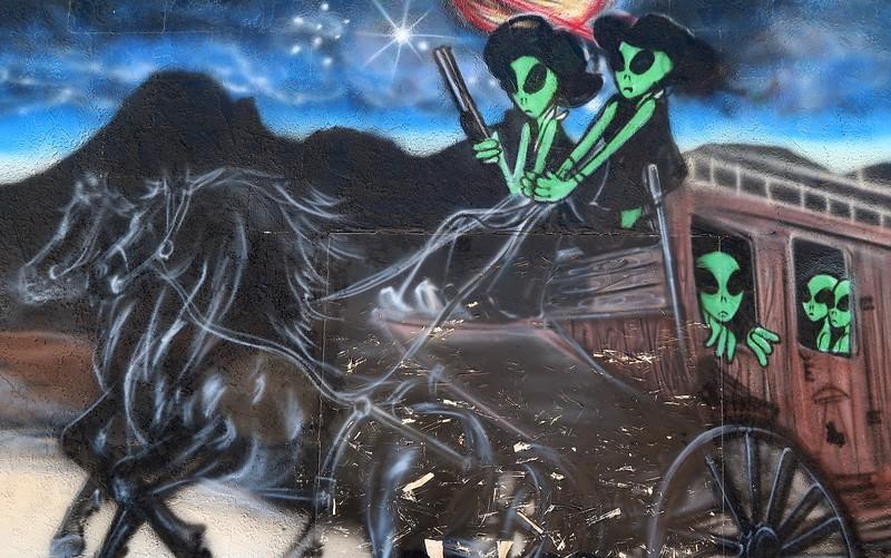 Alien mural at ET Fresh Jerky