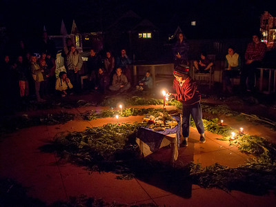 Advent Spiral at Nevada City Cohousing, December 22, 2013