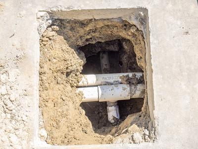 Pool leak repair, April 7, 2014