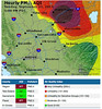 Air quality map, Sacto region 20140921 5 PM