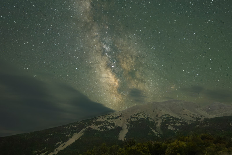 Milky Way Over Mountain at Great Basin