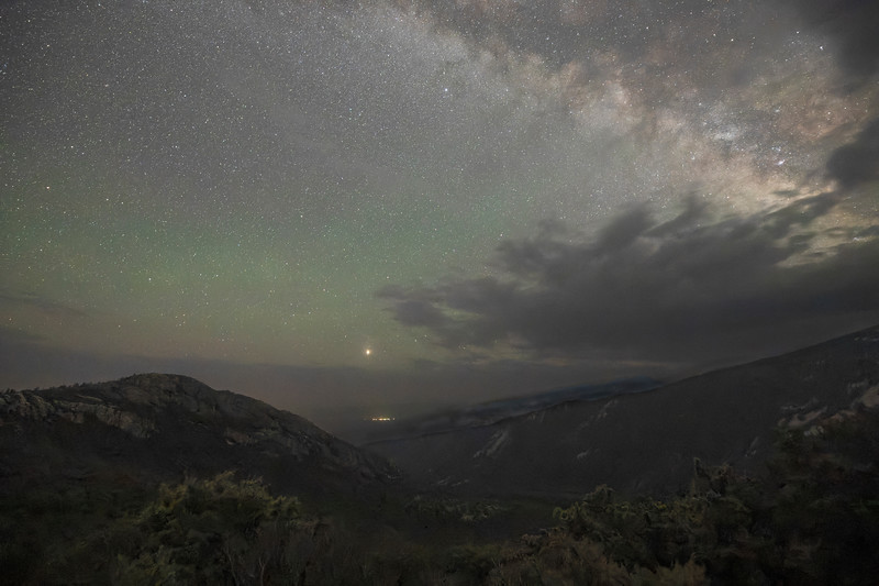 Milky Way Rises Over Clouds and the Great Basin