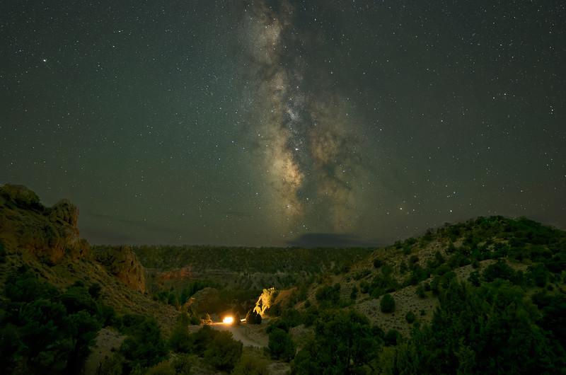Milky Way Over Hidden Canyon