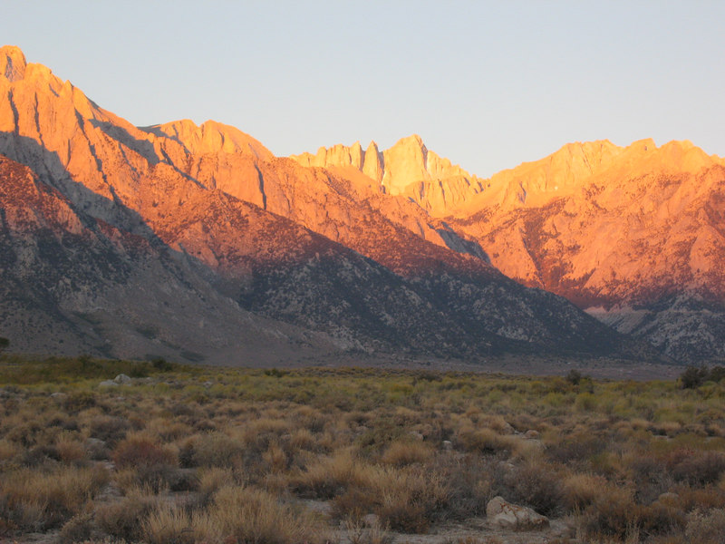 Mount Whitney as I drove up 395 on 10/12/06