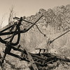 old equipment, Grant Range, Nevada