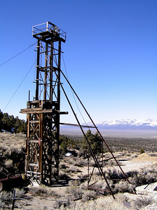 Taylor shaft head frame, Schell Creek Range, NV
