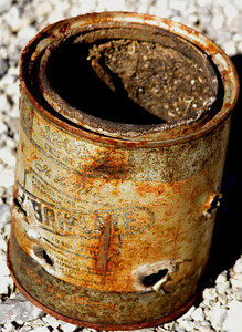 shot-up can, Schell Creek Range, NV
