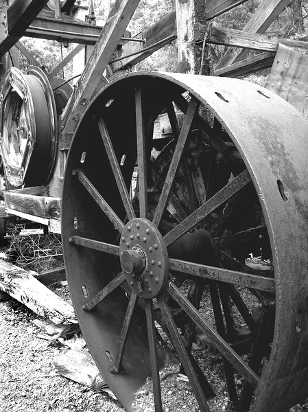 Chief Mine, South Snake Range, NV. Mining equipment.