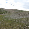 Now out of the drainage, 1100 ft of climb remains to get to the ridgeline.
