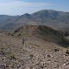Garrick moves up the ridge.