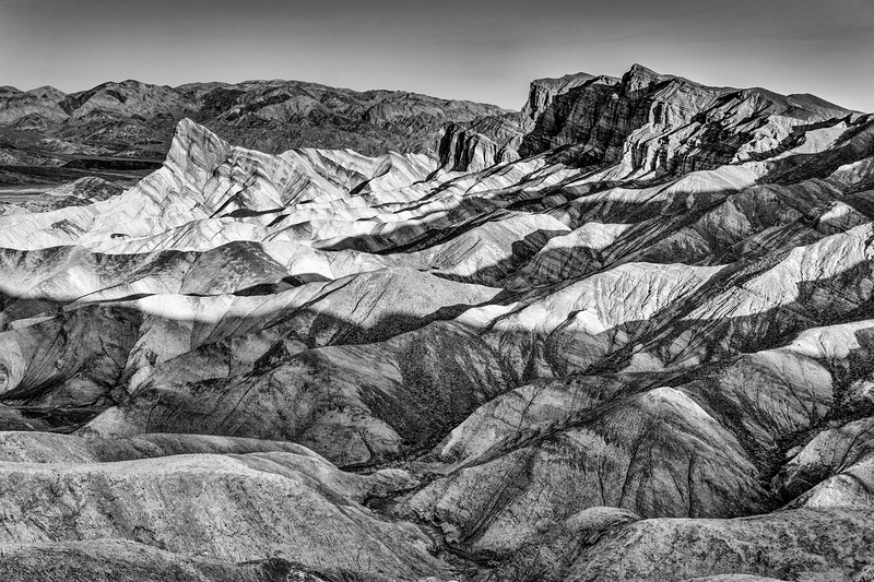 Zabriski Point Blk and Wht, Death Valley N.P.