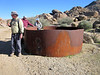 Remnant of stock tank at Gold Butte