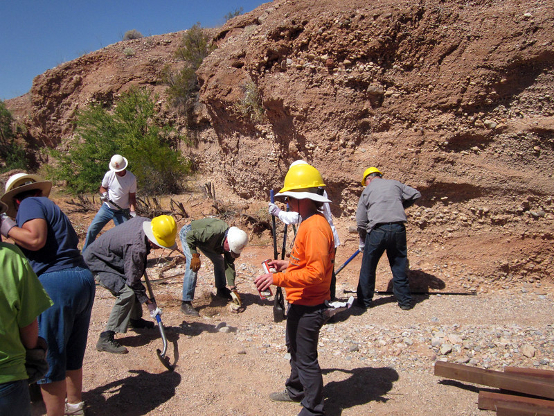 Work day -- the crew is mostly local volunteers from Friends of Gold Butte