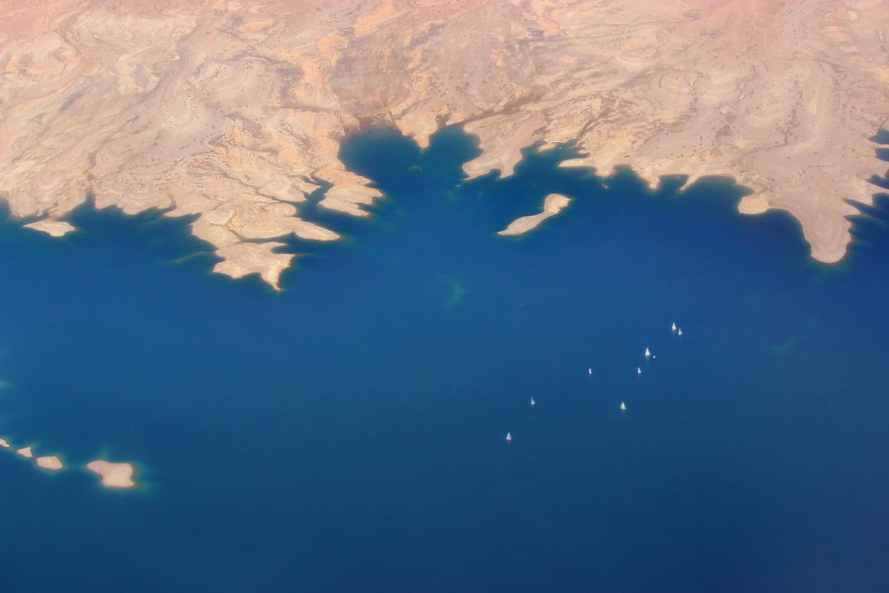 Sailboats on Lake Mead
