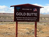 New sign as you drive to Gold Butte