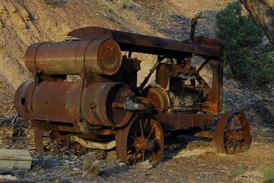 Old compressor at Blue Eagle Mine, unfortunately people have taken some parts away since the last time several years ago.
