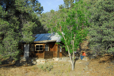 The lonely cabin in Bernice Canyon, the watchman site.