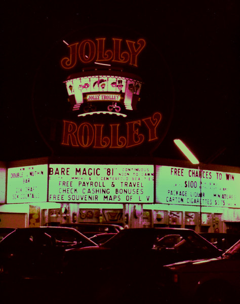 Night time at the Trolley.