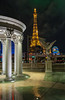 The Eiffel Tower and the Paris Casino in Las Vegas, Nevada, USA.