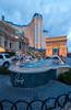 The Paris Hotel and Arc de Triomphe in Las Vegas, Nevada, USA.
