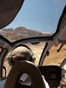 Helicopter pilot's view.