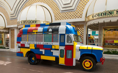 The Partridge Family bus on Fremont Street in downtown Las Vegas.