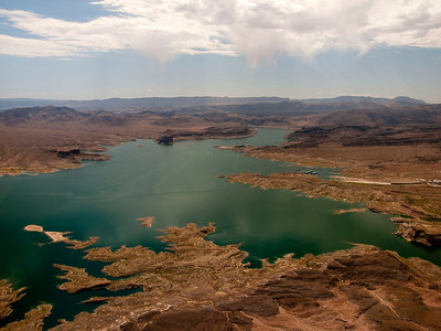 Lake Mead near the Hoover Dam.