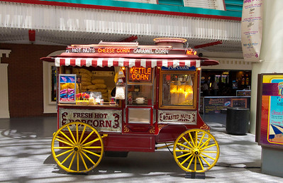 Popcorn cart on Fremont Street in downtown Las Vegas.