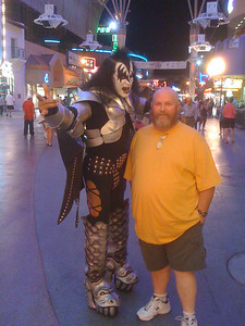 Bob and KISS on Fremont Street, downtown Las Vegas.