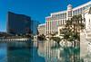 The Bellagio Hotel and Casino complex along The Strip in Las Vegas, Nevada, USA.