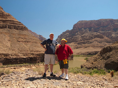 Dean & Bob on the floor of the Grand Canyon.