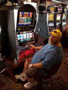 Bob gambling.