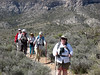Claudia leads hikers on La Madre Spring/White Rock loop hike