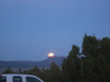 Rising of the full moon over the Fortification range