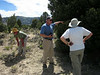 Craig shows us an area where prescribed burning of encroaching juinpers encouraged new grasses