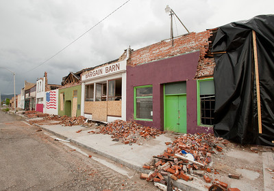 Wells, historic district after the earthquake