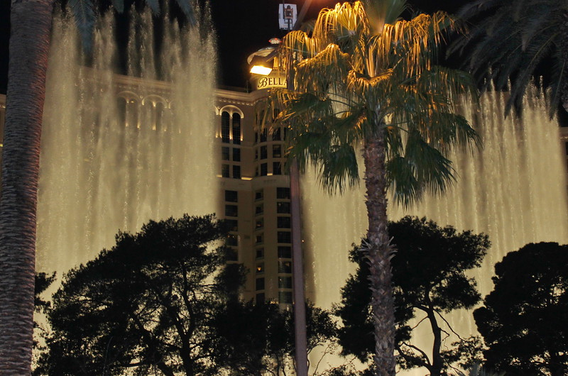 Bellagio Fountain at Night