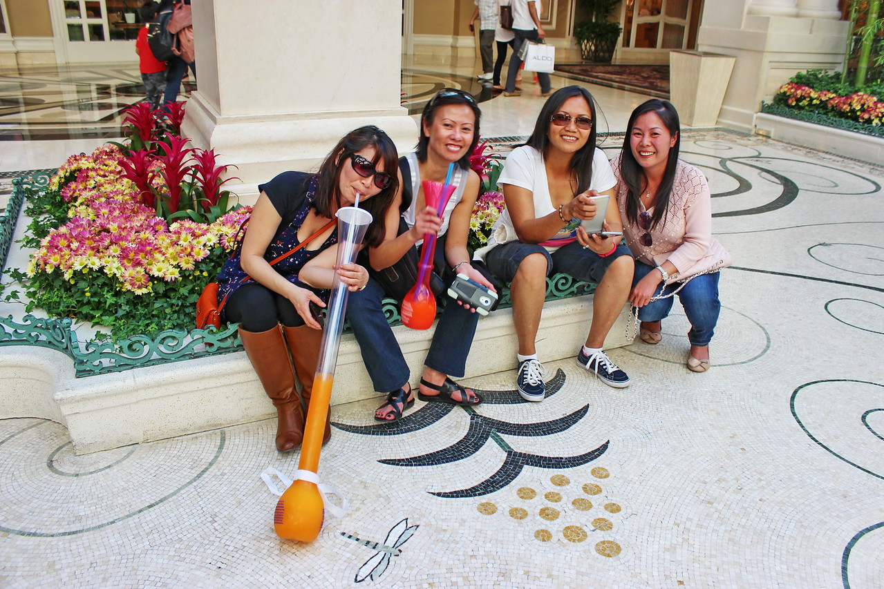 Friends Have Fun at the Bellagio Flower Show
