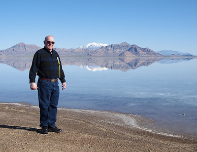Bonneville Salt Flats. Dad.