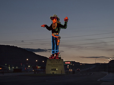 """Wendover Will"" Welcomes You To West Wendover, Nevada."