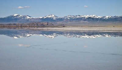 The Toana Range of the Goshute Mountains south of West Wendover, NV.  Photo taken from the Bonneville Salt Flats.