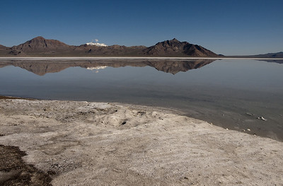Bonneville Salt Flats - notice the salt in the foreground.