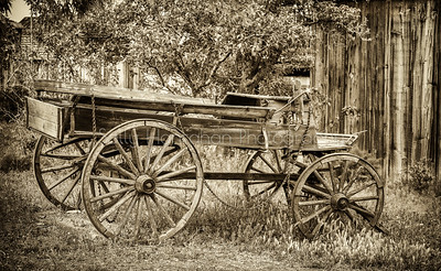 Old Wagon-Virginia City Nevada