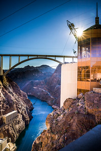 Hoover Dam on a January afternoon
