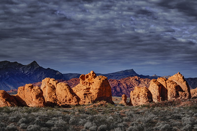 Morning Sun on the Seven Sisters, Valley of Fire