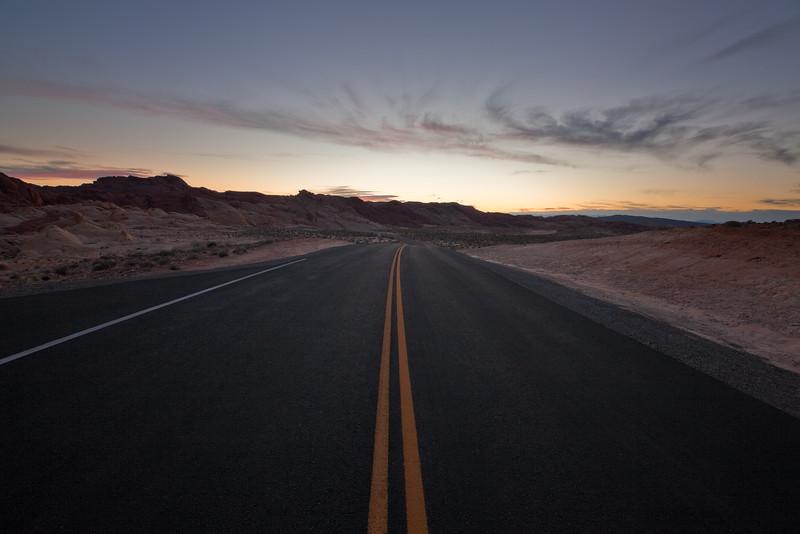 Desert Road Sunset