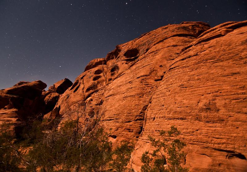Moonlight on Ancient Rocks