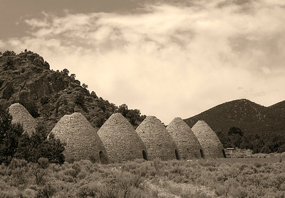 Charcoal ovens. Made out of rhyolite and used to make charcoal to run the smelters.