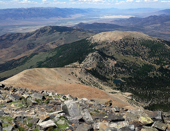 View from ~12,000 ft looking northwest at Spring Valley and Schell Creek Range, NV