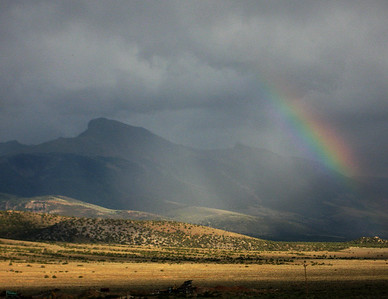 Rainbow by Wheeler Peak, NV